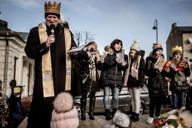 Orszak Trzech Króli w Łęcznej - 6 stycznia 2018